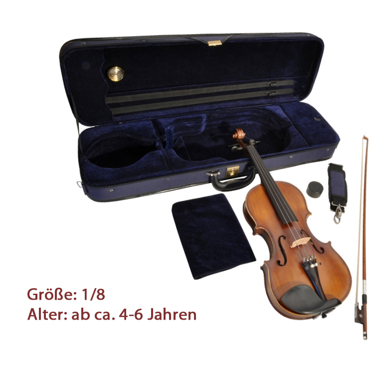 Geige Violine Kindergeige Schülergeige Geigenset 4//4 Anfängergeige ab 12 J.