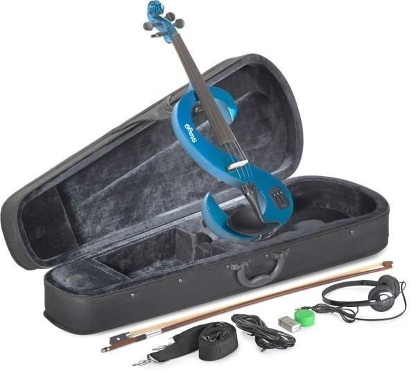 Stagg EVN 4/4 MBL 4/4 Silent Violinen Set