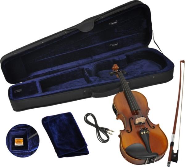 Steinbach 4/4 Geige semiakustisch poliert mit Tonabnehmer