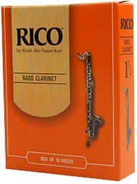 Rico Reeds 2,0 Böhm Bassklarinette Packung mit 10 Stück - ABVERKAUF
