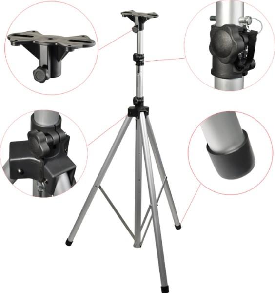 Steinbach Schwergewicht Lautsprecher-Stativ Aluminiumrohr silber