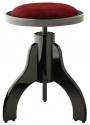 Stagg PS35 BK P V/RD Klavierhocker höhenverstellbar schwarz poliert roter Stoff