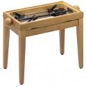 Stagg PB40 OAK P Klavierbank in Eiche poliert, Modell PB 40