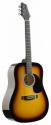 Stagg SW201SB Akustische Dreadnought Gitarre