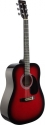 Stagg SW201RDS Akustische Dreadnought Gitarre