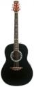 Stagg A1006LH-BK Elektroakustische Deep Bowl-Gitarre für Linkshänder