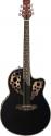 Stagg A2006-BK Elektroakustische Shallow Bowl Gitarre mit Cutaway
