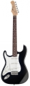 Stagg S300LH-BK Standard S- E-Gitarre  Linkshänder Modell schwarz