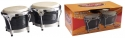 Stagg BW-300-BK 7,5 Zoll + 8,5 Zoll Latin Deluxe Bongos Holzkessel