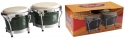 Stagg BW-300-GR 7,5 Zoll + 8,5 Zoll Latin Deluxe Bongos Holzkessel