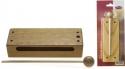 Kleiner Woodblock aus Holz mit Schlegel