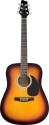 Stagg SW201SB-VT Elektroakustische Dreadnought Gitarre
