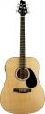 Stagg SW201N-VT Elektroakustische Dreadnought Gitarre mit 2-Band EQ