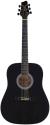Stagg SW203LH-BK Akustische Dreadnought Gitarre, 4/4, für Linkshänder, schwarz