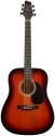 Stagg SW203VS Akustische Dreadnought Gitarre