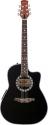 Stagg A4006-BK Elektroakustische Shallow Bowl-Gitarre mit Cutaway + 4-Band EQ