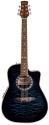 Stagg A4006-BLS Elektroakustische Shallow Bowl-Gitarre mit Cutaway + 4-Band EQ