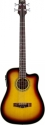 Stagg AB203CE-SB Elektroakustische Cutaway-Bassgitarre