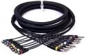 Stagg ML-05/8PM8CM P Standard Multicorekabel - 8 x Klinke / 8 x Cinch M