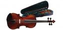 Stagg Geigenset 1/2 vollmassive Violingarnitur im Formkoffer