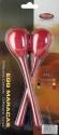 Stagg EGG-MA L/RD Maracas Paar Kunststoff eiförmig mit langem Griff rot