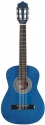 Stagg C510 BL 1/2 Klassik-Gitarre in blau mit Lindendecke