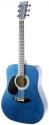 Stagg SW203LH-TB Akustische Dreadnought Gitarre 4/4, für Linkshänder, in blau
