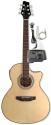 Stagg SW306CE-N Deluxe Elektroakustische Cutaway Folk-Gitarre mit 4-Band EQ
