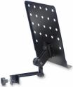 Stagg MUS-ARM 1 Notenständer zum Anklemmen klein mit Lochblechauflage Metall schwarz