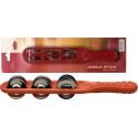 Stagg JSK-6/RD Kunststoff Jingle Stick mit 6 Schellen