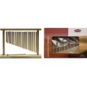 Stagg PCH120-WF 20 Metall-Klangstäbe einreihig mit Holzrahmen
