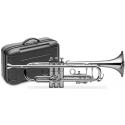 Stagg 77-TCB/SL B-Trompete, Edelstahl Ventile, versilbert, im ABS-Koffer