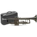 Stagg 77-TCB/BK B-Trompete, Edelstahl Ventile, schwarz, im ABS-Koffer