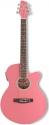 Stagg SW206CE-PK Elektroakustische Folk-Gitarre mit Cutaway