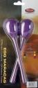 Stagg EGG-MA L/MG Maracas Paar Kunststoff eiförmig mit langem Griff magenta
