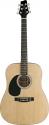 Stagg SW201LH-N Akustische Dreadnought Gitarre 4/4 Linkshändermodell