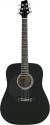 Stagg SW201LH-BK Akustische Dreadnought Gitarre 4/4 für Linkshänder