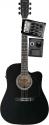 Stagg SW203CETU-BK Elektroakustische Dreadnought Gitarre mit Cutaway 4-Band EQ