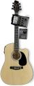 Stagg SW203CETU-N Elektroakustische Dreadnought Gitarre mit Cutaway + 4-Band EQ