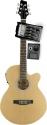 Stagg SW206CETU-N Elektroakustische Cutaway Folk-Gitarre