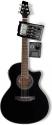 Stagg SW306CETU-BK Elektroakustische Cutaway Folk-Gitarre mit eingebauten 4-Band EQ/Stimmgerät
