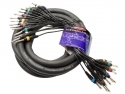 Stagg ML-05/16PM16PMH Pro multikern kabel - 16 x 1/4, Monoklinke/ 16 x 1/4, Monoklinke
