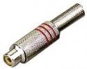 Stagg 0200-F-REDH Weibliche Cinch-Stecker Metall