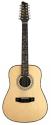Stagg NA76/12 12-saitige Akustik Dreadnought Gitarre mit massiver Fichtendecke