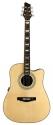 Stagg NA74CBB Elektro-Akustische Dreadnought Gitarre mit massiver A-Klasse Fichtendecke