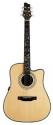 Stagg NA76CBB Elektro Akustische Dreadnought Gitarre mit massiver Fichtendecke