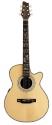 Stagg NA76MJCBB Elektro-Akustische mini-Jumbo Gitarre mit massiver Fichtendecke