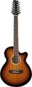 Stagg SW206CE/12-VS Elektroakustische Folk-Gitarre mit Cutaway
