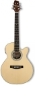 Stagg SMJ209CE-NS Elektroakustische mini Jumbo Gitarre mit Fichten Decke u. 4-Band EQ