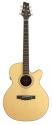 Stagg NA72MJCBB Elektro-Akustische mini-Jumbo Gitarre mit massiver A-Klasse Fichtendecke